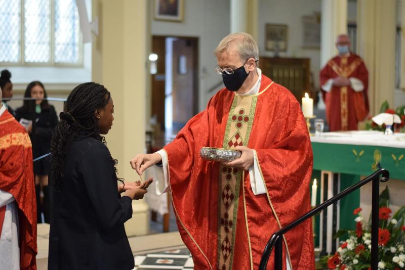 Bishop Nicholas celebrates St Peter and St Paul with Tower Hamlets school