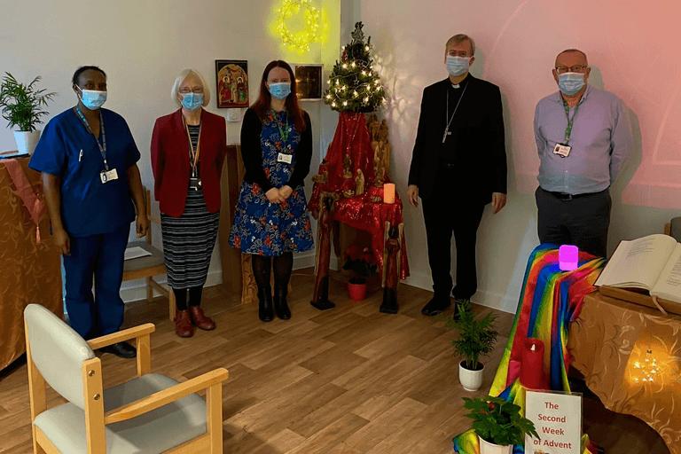 Bishop Nicholas visits Mildmay Hospital to bless chapel