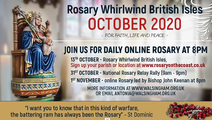 Rosary Whirlwind British Isles OCTOBER 2020 - FOR FAITH, LIFE AND PEACE -