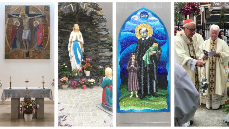 Cardinal dedicates altar and blesses artwork and grotto at Harrow Road