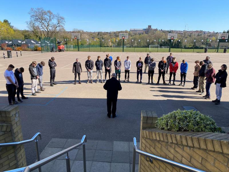 St Columba's students pay respects to Prince Philip before Bronze DofE expedition