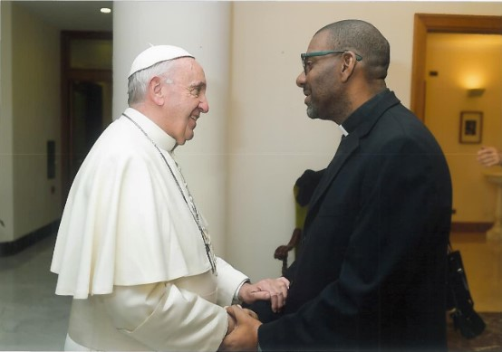 Fr Howard James meets Pope Francis