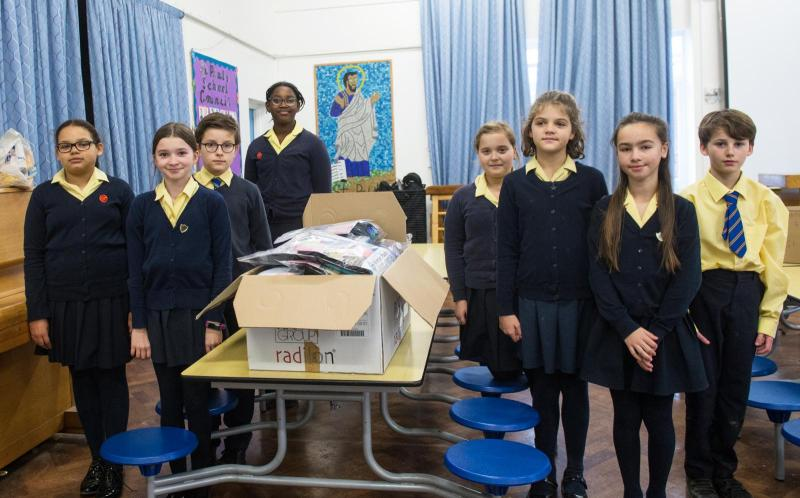 School children make essential 'Vinnie packs' for homeless