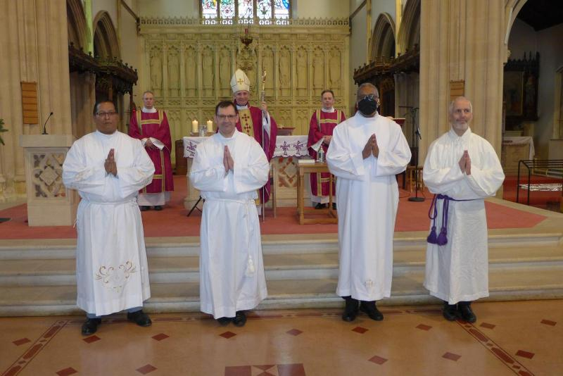 Bishop Paul confers Lector, Acolyte and Candidacy on those in formation for permanent diaconate