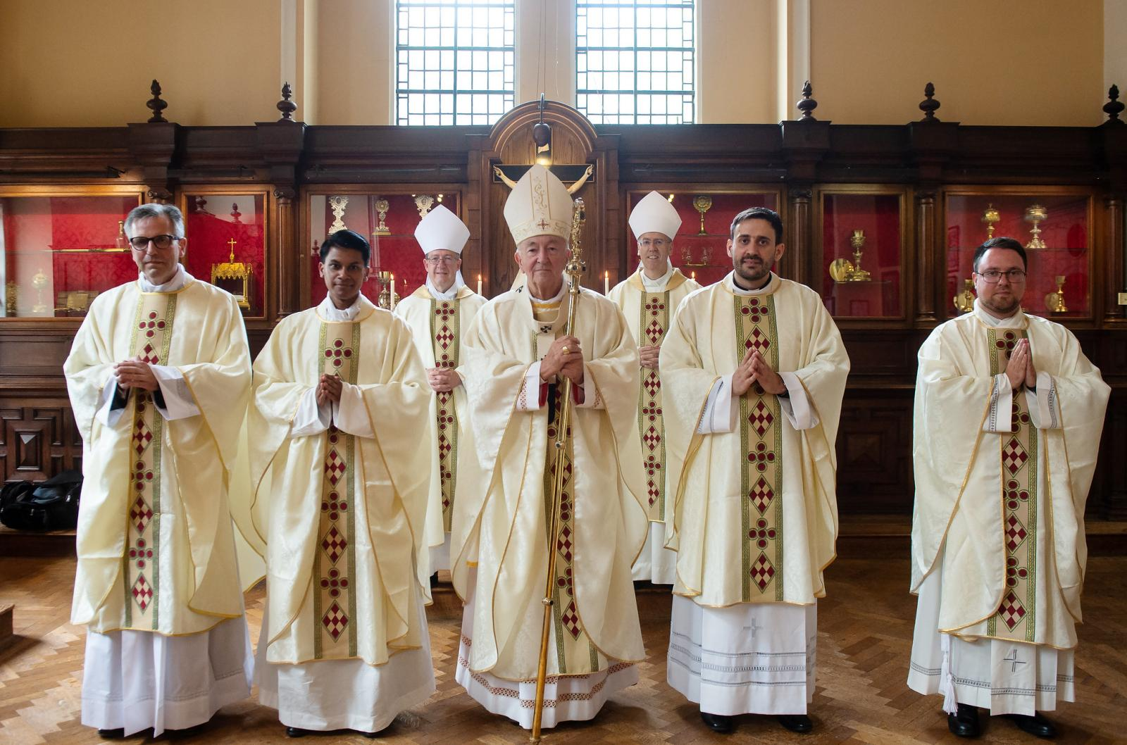 Cardinal celebrates ordination Mass of four new priests - Diocese of Westminster